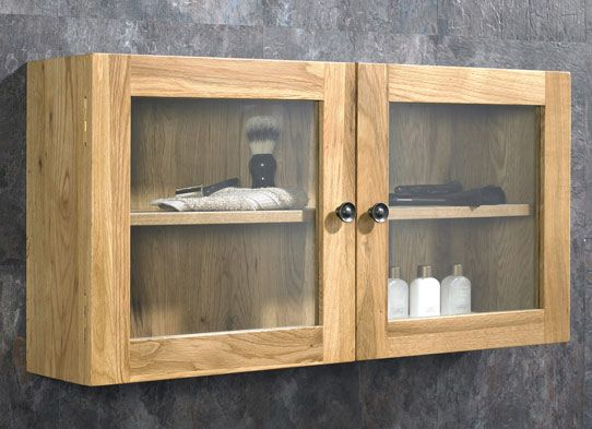 oak bathroom storage